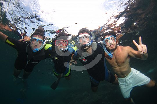 children snorkeling at Cabo de Palos