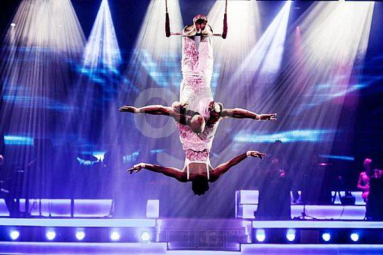 Acrobats at Son Amar Show Majorca