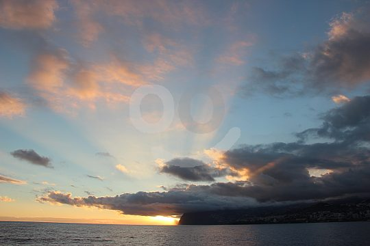 Sunset sky on Madeira with a catamaran trip