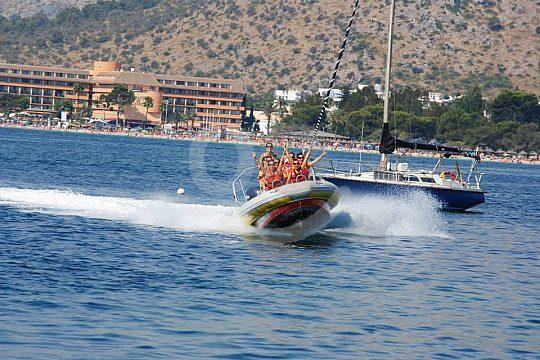 the speedboat in Majorca north