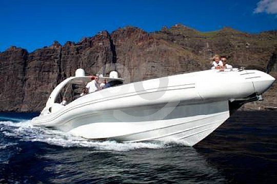 until Los Gigantes with the speedboat charter