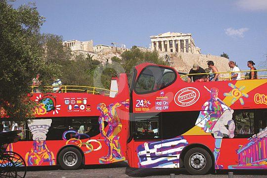 hop-on hop-off city tour in Athens Acropolis
