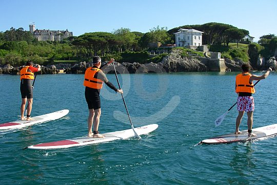 stand up paddling on the Costa de Cantabria