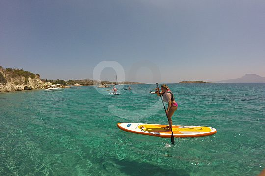 go on SUP tour near Chania in Crete