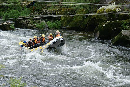 132 kilometres downstream on the Ulla