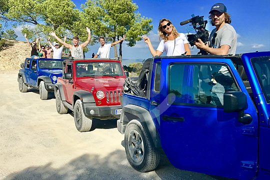Jeep drive in Ibiza