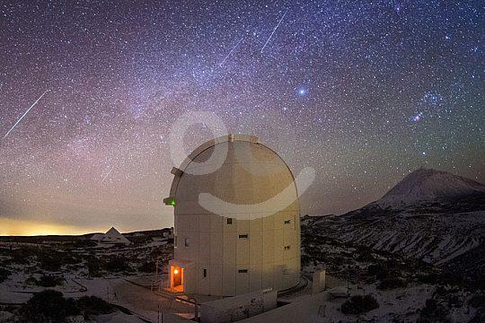 Observatory Sunset Tenerife - Teide at night
