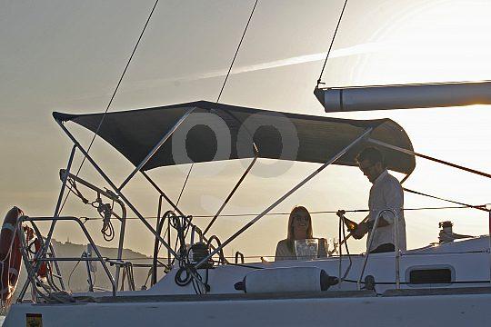 Atmosphäre an Bord der Segelyacht