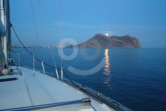 At Costa Calida sunset sailing