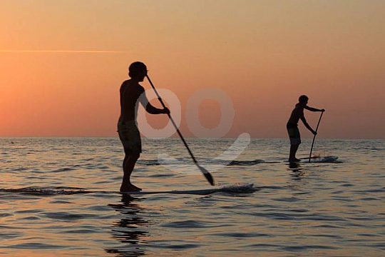 Standup Paddle during sunset