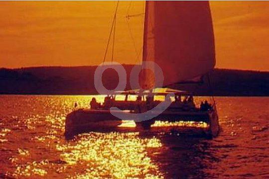 Malaga catamaran tour during sunset