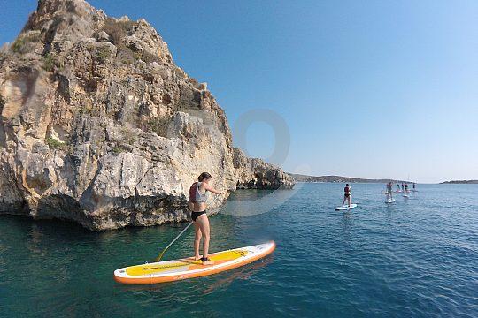 SUP through beautiful Loutraki Bay