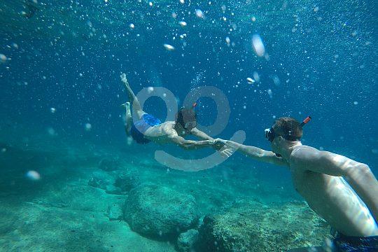 snorkeling in Crete near Chania