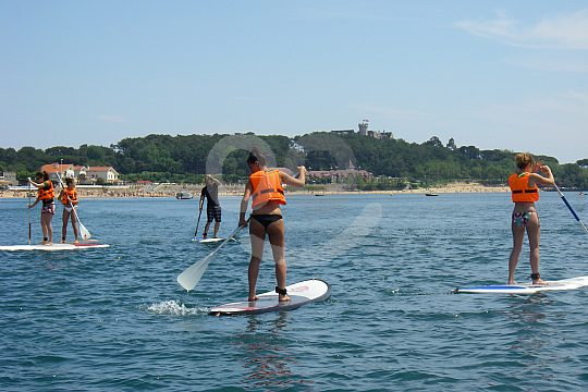 stand up paddle boarding class Santander