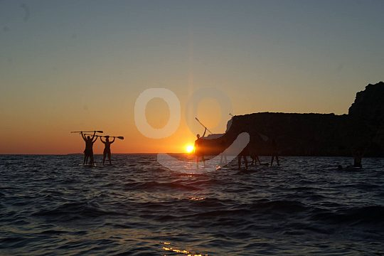 Paddle to the sunset in Menorca