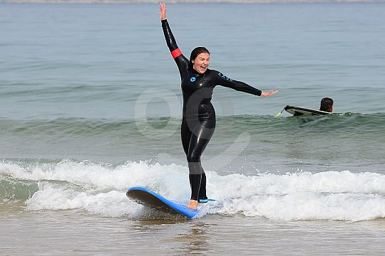 Surfing lessons near Santander