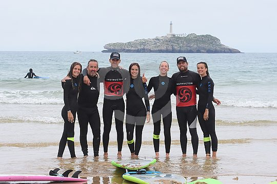 Surfing on the Costa de Cantabria