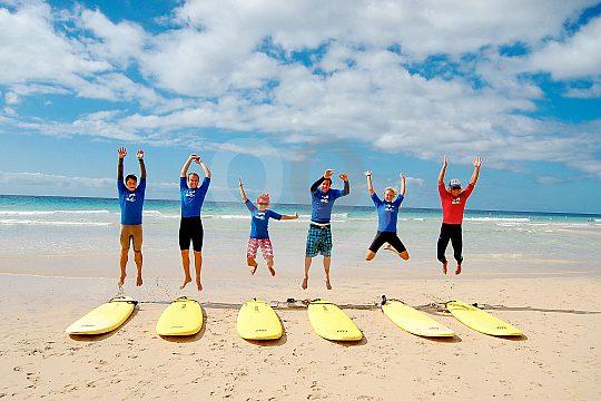 Spaß beim Surfen auf Fuerteventura