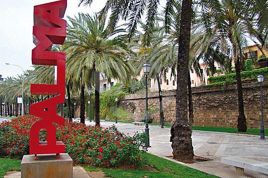 The Palma sign in Palma de Mallorca