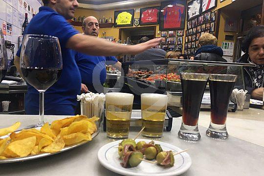 typical tapas in a tapas bar