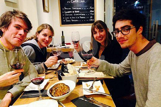 in Cadiz at a wine degustation