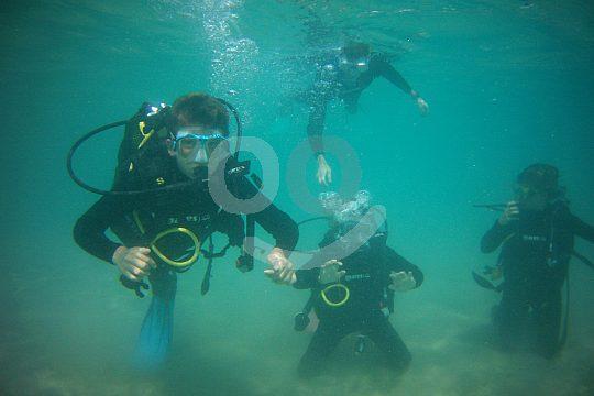 the first time scuba diving in La Ametlla de Mar