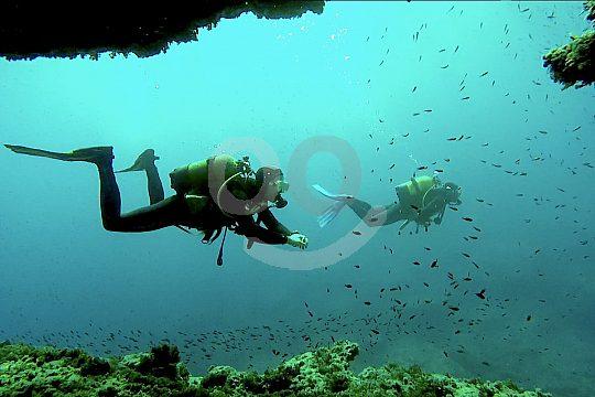 Diving is fun in the Mediterranean Sea of Menorca