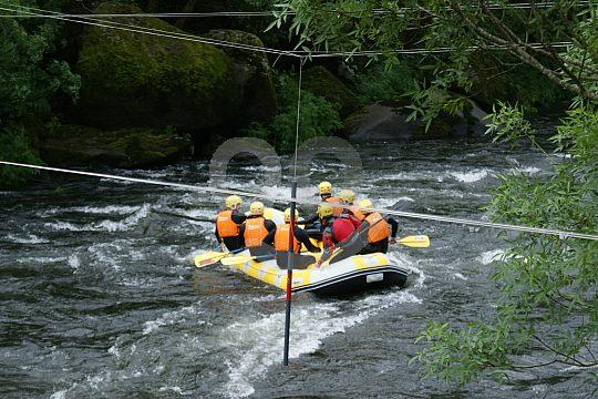 Rafting not far from Santiago de Compostella