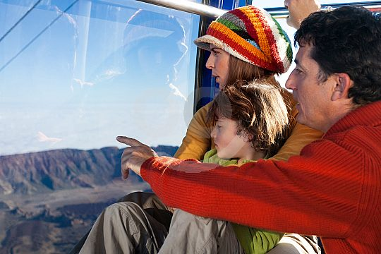 ride with the Tenerife Teide cable car
