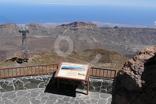 wiewpoint from Teide cable car station