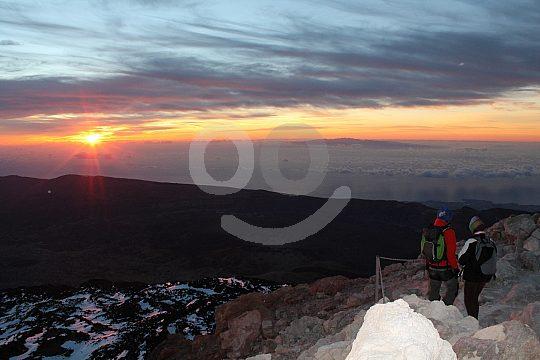hiking at sunrise in Tenerife