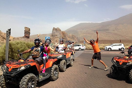 With the Quad to the Teide Tenerife