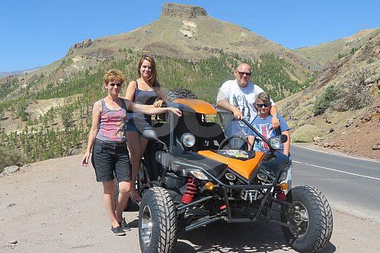 Family on Tenerife buggy tour