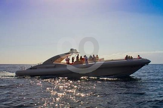 speedboat out at sea