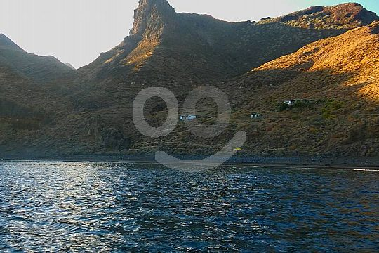 views of Anaga mountains from the speedboat