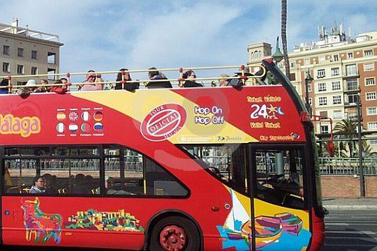 round tour by bus in Málaga