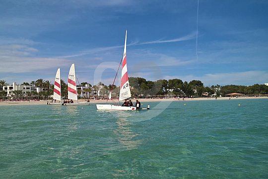 go Topcat catamaran sailing in Alcudia