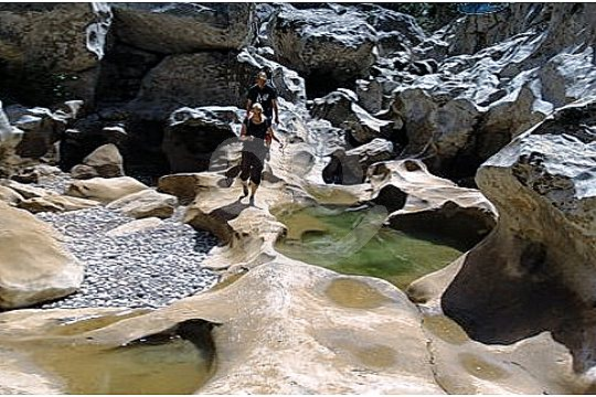 rock formations on the guided hike Torrent de Pareis