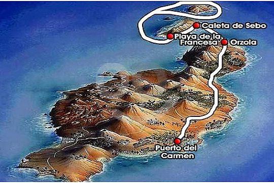 Route in the North of Lanzarote and the island Graciosa