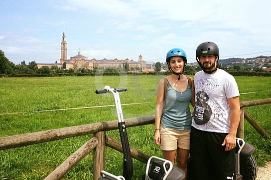 couple at the Segway tour