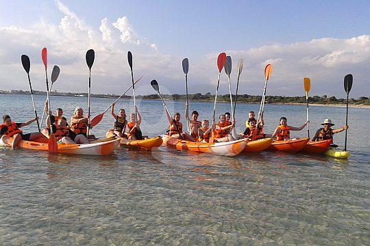 the Colonia Sant Jordi kayak tour for beginners
