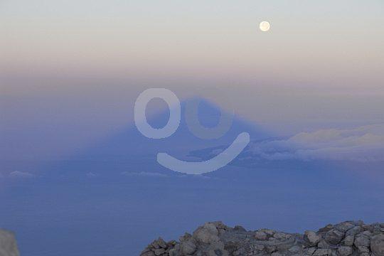 shadow of Pico del Teide at sunrise