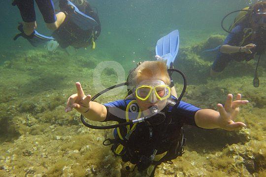 Diving group in Menorca