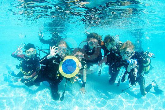 La Manga children scuba diving