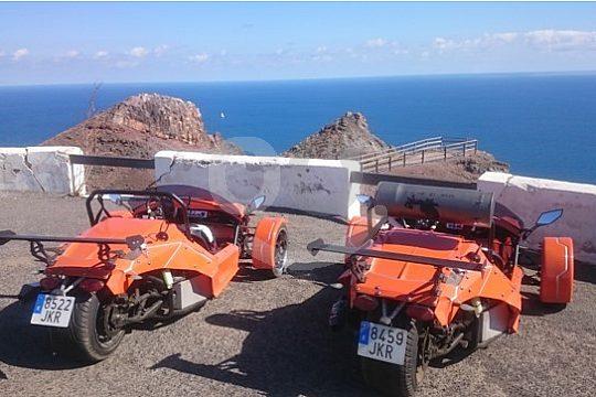 Great view in a trike roadster in Fuerteventura
