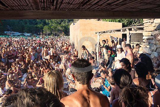 drummer of Benirràs at Ibiza boat trip