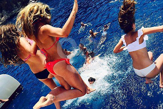 swim stop during the catamaran excursion