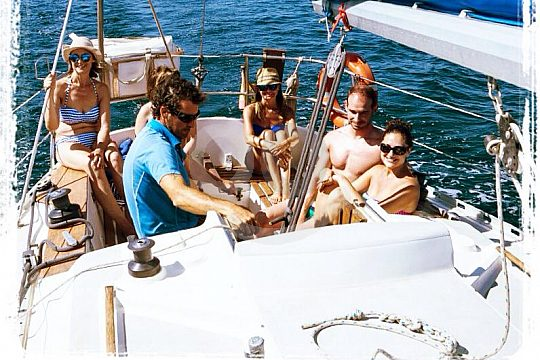 group on the sailboat