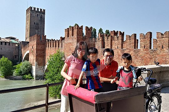 Sights of Verona with kids