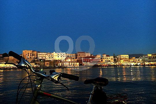 View from the Venetian harbour in Chania